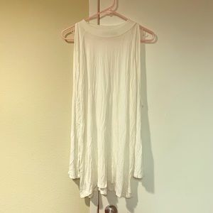 White tunic with shoulder cut outs